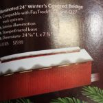 83305 Lionel O scale 2 or 3 rail Christmas covered bridge