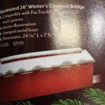 83305 Lionel O scale 2 or 3 rail Christmas covered bridge