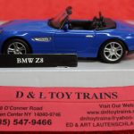 3009925 Atlas O scale 2 and 3 rail BMW Z8 convertible car