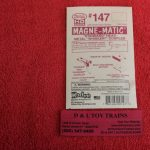 K147 Kadee HO scale #140 series whisker medium underset shank couplers