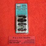 K570 Kadee HO scale 70 ton Barber S-2 roller bearing trucks