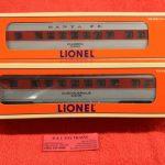 11930 Lionel O-27 scale 3 rail Lionel Warbonnet Passenger car 2 pack