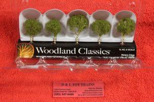 """3532 Woodland Scenics 1 1/4""""-2"""" Water's edge trees"""