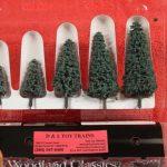 "3566 Woodland Scenics 2""-3 1/2"" Blue needle trees"
