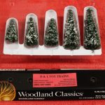 "3567 Woodland Scenics 2""- 3 1/2"" snow dusted trees"
