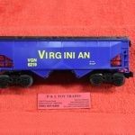 6219 K Line O scale 3 rail Virginian covered hopper car