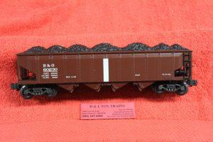 623-1095 K Line O scale 3 rail Baltimore & Ohio 4 bay die cast hopper car