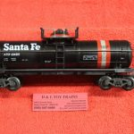 634501 K Line O scale 3 rail Stanta Fe single dome tank car