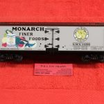 742-8029 K Line O scale 3 rail Monarch Finger Foods wood side reefer car