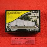 1158 Woodland Scenics N scale concrete retaining walls