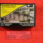 1159 Woodland Scenics cut stone retaining walls