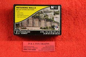 1159 Woodland Scenics cut stone retaining walls
