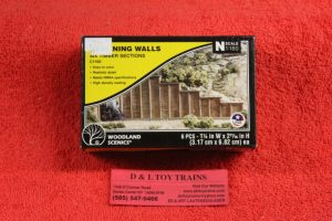1160 Woodland Scenics N scale Timber retaining walls