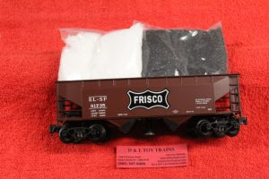21349 K Line by Lionel O scale 3 rail Frisco 2 bay operating hopper car
