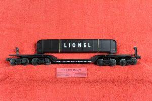 26971 Lionel O scale 3 rail Lionel Steel 16 wheel flatcar with girders