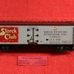 3001541 Atlas O scale 3 rail Storck's Beer 40' wood side reefer car