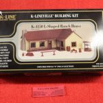 4150 K-Line O scale L shaped ranch house building kit