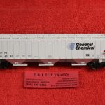 45344 Intermountain HO scale General Chemical 3 bay ribbed side hopper car