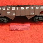 6269 K line O-27 scale 3 rail Western Maryland ribbed hopper car