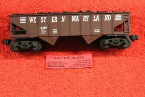 6269 K line O-27 scale 3 rail Western Maryland ribbed hopper car