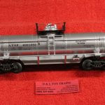 632-1052 K Line O-27 scale 3 rail Santa Fe single dome tank car
