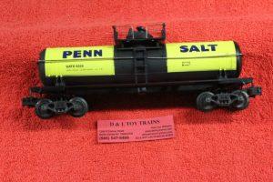 6325 K Line O-27 scale 3 rail Penn Salt tank car
