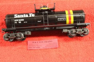 634502 K Line O-27 scale 3 rail Santa Fe single dome tank car