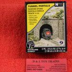 1155 Atlas N scale Random stone single track tunnel portals