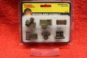 2739 Woodland Scenics O scale Assorted crates figures