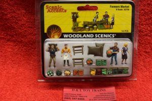 2750 Woodland Scenics O scale Farmer's Market figures