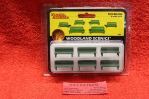 2758 Woodland Scenics O scale Park benches