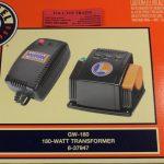 37947 Lionel O scale 3 rail 180 watt AC transformer
