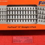 "85389 Lionel O scale 3 rail 10"" straight Fastrack white roadbed 4 pack"