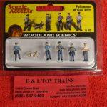 1822 Woodland Scenics HO scale Policemen figures