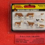 1843 Woodland Scenics HO scale Hereford cows figures