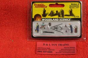 1871 Woodland Scenics HO scale Welders & accessories figures