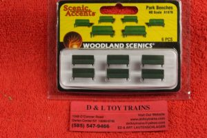 1879 Woodland Scenics HO scale Park benches