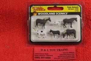 1888 Woodland Scenics HO scale Farm animal figures
