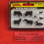 1955 Woodland Scenics HO scale Black angus cow figures