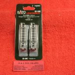 """20-046 Kato N scale 2 7/16"""" straight track with bumpers"""