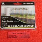 2250 Woodland Scenics N scale single crossbar telephone poles