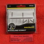 2980 Woodland Scenics HO scale Barbed wire fence
