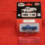 30000128 Atlas HO scale Great Northern 1973 Ford F-100 pickup truck