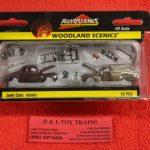 5563 Woodland Scenics 1:87th scale Junk cars