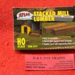 791 Atlas HO scale Stacked lumber