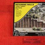 1260 Woodland Scenics HO scale Timber retaining walls