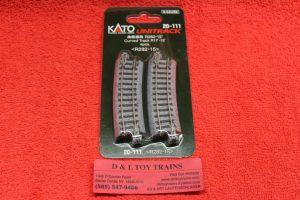 "20-111 Kato N scale Unitrack 11"" radius 15 degree curve track"