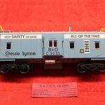 2001796-2 Atlas O scale 2 rail Chessie System bay window caboose