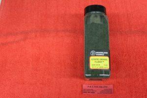 fl636 Woodland Scenics Dark Green static grass flock